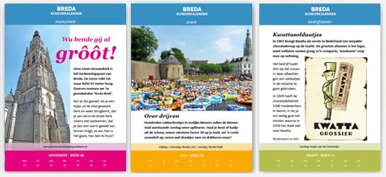Scheurkalender Hallo Breda 2020 voorbeeldpagina's