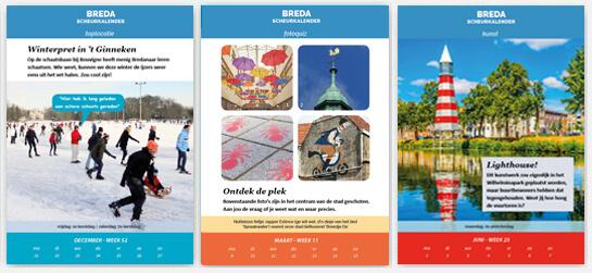 Bredase Scheurkalender 2020 voorbeeldpagina's
